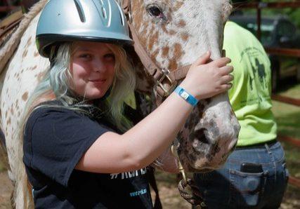 girl with blue helmet charlie